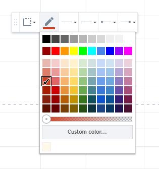 Kleur veranderen van trendlijn Tradingview