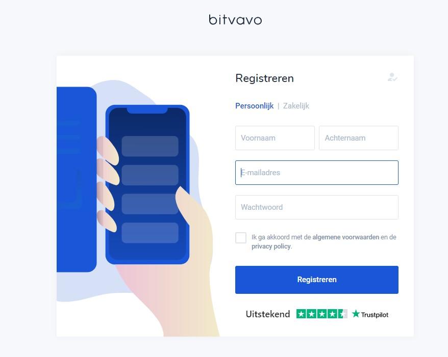Bitvavo account maken